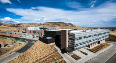 Energy Systems Integration Facility (ESIF) at the National Renewable Energy Laboratory in Golden, Colorado. (Photo by Dennis Schroeder / NREL)