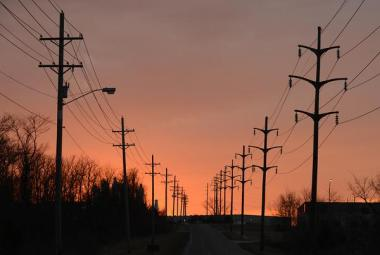 Electricity travels through distribution lines along Peabody Road on Thursday. Columbia Water and Light operates 70 miles of transmission lines throughout the city, according to the department's website.   |  Jenny Justus