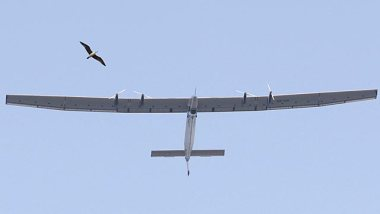 The solar-powered plane Solar Impulse 2 takes off from Muscat airport in Oman