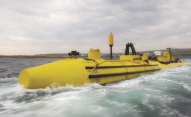 A smaller prototype version of the turbine