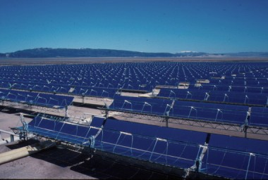 California solar farm.