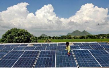 Solar farm in India
