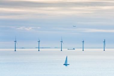 Offshore wind farm.