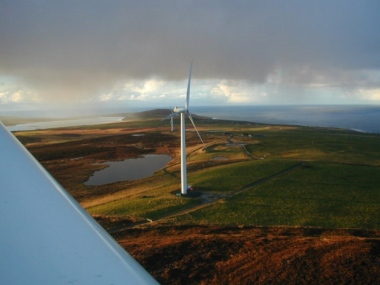 The Burgar Hill wind farm has been in operation for 13 years and faces the windiest conditions in the UK