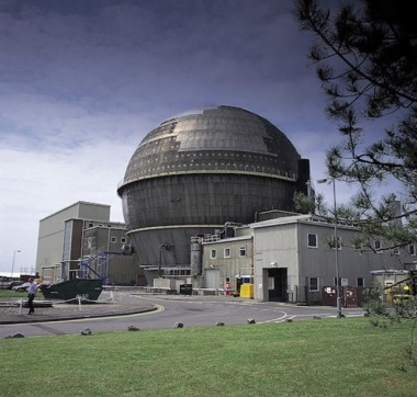 Ancient nuclear power plant.