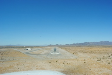 View from an airplane landing at Blythe, California in 2010. Photo by Shane.torgerson. Wikimedia Commons.