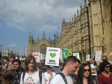 March Against Climate Change. Photo by peganum from Henfield, England. Wikimedia Commons.