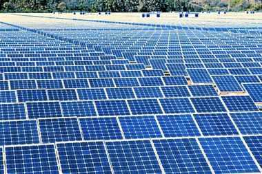 Solar farm in the UK