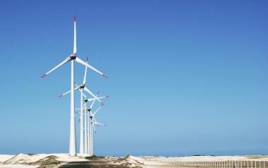 Wind farm in Rio Grande do Sul. Author: Alexandre Pereira. License: Creative Commons, Attribution - ShareAlike 2.0 Generic