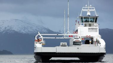Battery-powered ferry.