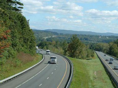 A view of the Mass Pike, Stockbridge, Massachusetts. Photo byToddC4176. Wikimedia Commons.