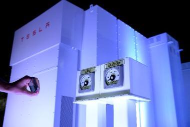 Tesla utility-scale batteries.