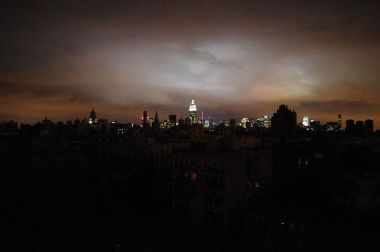 New York skyline when half the city was in blackout due to a power failure during Hurricane Sandy. Photo by David Shankbone. Creative Commons Attribution 3.0 Unported license.