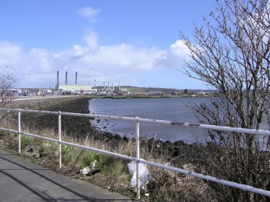 Ballylumford and the power station at Islandmagee, in rural Northern Ireland. Photo by Kenneth Allen. Creative Commons Attribution-ShareAlike 2.0 license.