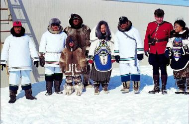 Ceremony on the occasion of the foundation of Nunavut, April 1st 1999