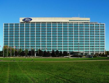 Ford Motor Company Headquarters, Dearborn, Michigan. Photo by Dave Parker. Wikimedia Commons.