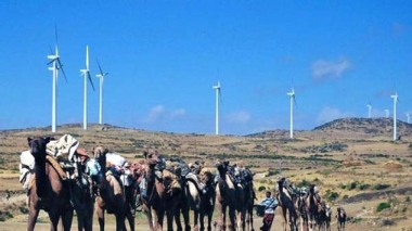 Over 75% of Ethiopia's 94 million people, mainly those living in rural areas, are not connected to the national grid. Photo credit: Adama Wind Farm. AFP