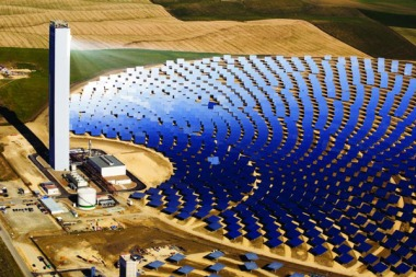 The PS20 concentrated solar thermal plant in Spain.