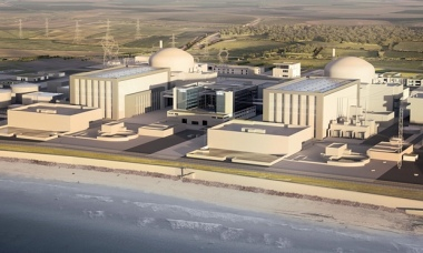 Opponents see Hinkley Point C as an unnecessary show of support for nuclear energy. Photograph: EDF/PA.