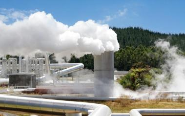 Geothermal power station. (That is steam, not smoke.) Featured Image: N.Minton/Shutterstock.com