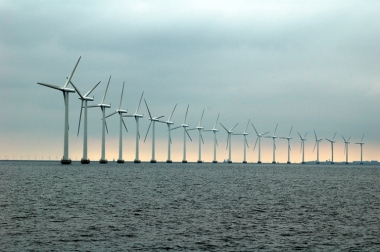 Offshore wind farms have production that varies depending on the weather.