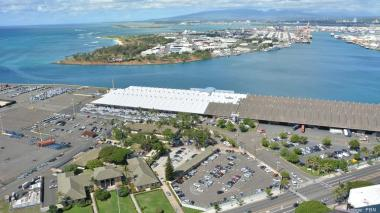 The Hawaii Foreign Trade Zone No. 9 at Honolulu Harbor. PBN File.