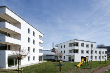 A 16-unit apartment building in Innsbruck, Austria, is the first of its kind to be certified under Passive House Plus. Passive House Institute photo.