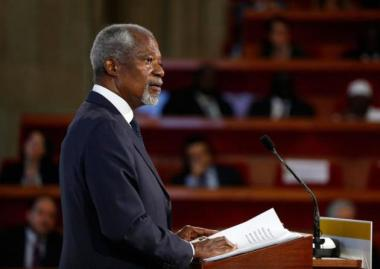 Former UN secretary-general Kofi Annan said technological advances mean businesses no longer need to choose between economic growth and climate stability. Reuters