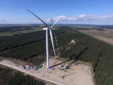 The prototype in Østerild, Denmark was installed only a few months after the product launch at EWEA Offshore trade show in Copenhagen.