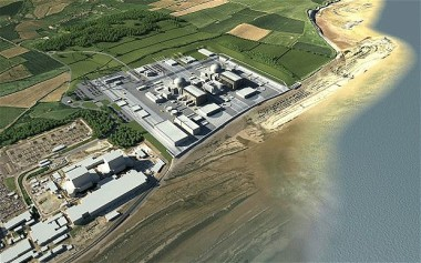 Illustration of Hinkley Point: The new reactors at Hinkley would be the first of eight new nuclear power stations to be built in the UK. Image: EDF Energy
