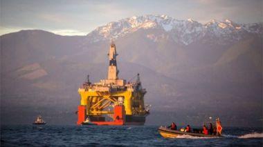 Off-shore oil rig.