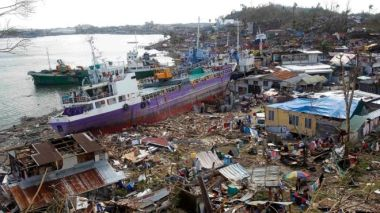 Developing nations point to Typhoon Haiyan as an example of the damage wrought by extreme weather events. Reuters.