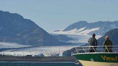 While climate negotiators were meeting in Germany, President Obama was highlighting the issue at a glacier in Alaska.