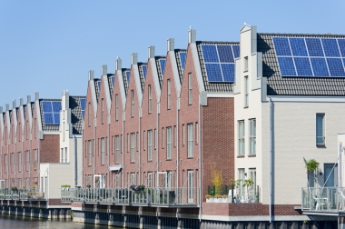 Image: rooftop solar in the Netherlands, via Shutterstock