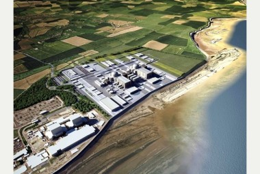 Artist's rendering of the Hinkley C nuclear power plant