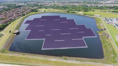 The floating solar panel reservoir