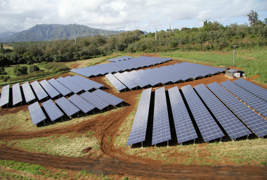 """HEI is seeking approval to provide """"rooftop energy"""" to customers with no rooftops, in projects like this solar farm on Kauai. Photo Courtesy Recsolar.com"""