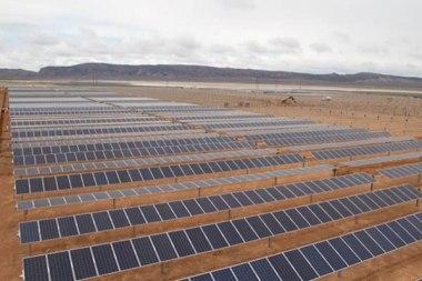 Solar plant under construction in Utah.