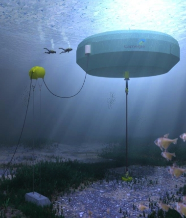 CETO 6 units (one of which is pictured here) may be able to harness the energy of undersea waves. (Photo : Carnegie Wave Energy)