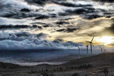 Wind turbines in Manjil. Iran