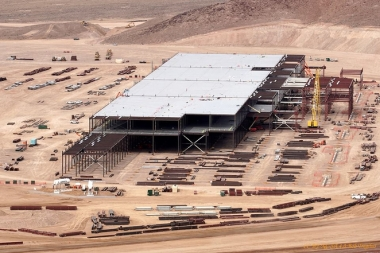 Tesla Gigafactory under construction.