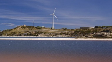 Wind turbine on Rottnest Island.