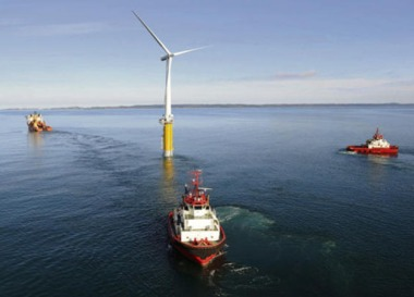 Hywind 1 off Norway. Statoil Image.