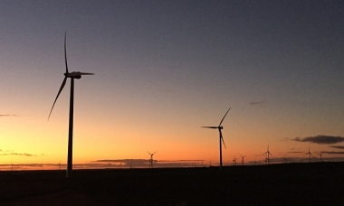 Wind farm near Merredin, Western Australia. Photograph: Calla Wahlquist for the Guardian