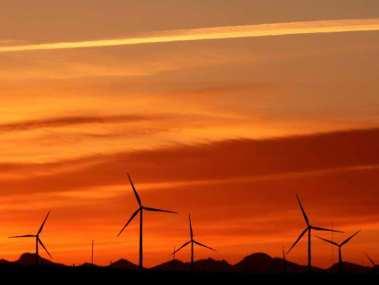 A wind farm near Fort MacLeod, Alberta. Leah Hennel / Calgary Hearald Archives