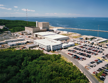 The Entergy Corporationwill close Pilgrim Nuclear Generating Station, on Cape Cod Bay, within four years. Entergy Nuclear / Flickr