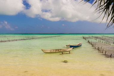 Kiribati, with about 92,000 inhabitants, recently bought land in Fiji to relocate its inhabitants as the sea level rises. Image: Shutterstock
