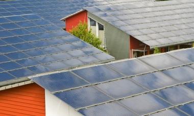 Solar panel roofs in Vauban in Freiburg, Germany Photograph: Imagebroker/Rex Shutterstock