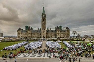 Demonstration in Ottawa