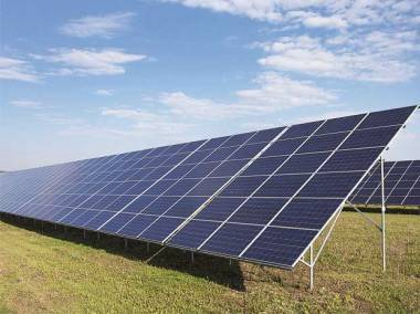 Solar array in India